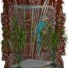 Who says our pet birds have to be housed in unattractive cages?  We custom design Aviaries and bird cages that look like Art for your homes, offices or other places of business.  We also design clip on pieces for those who already have a suitable cage or aviary but would like to dress it up.